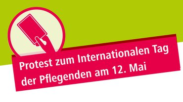 Rote Karte - Protest zum Internationalen Tag der Pflegenden am 12. Mai